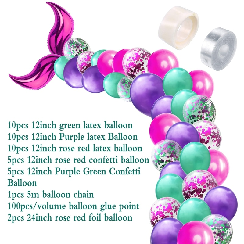 Little Mermaid Party Decorations Supplies Set, 42 Pcs
