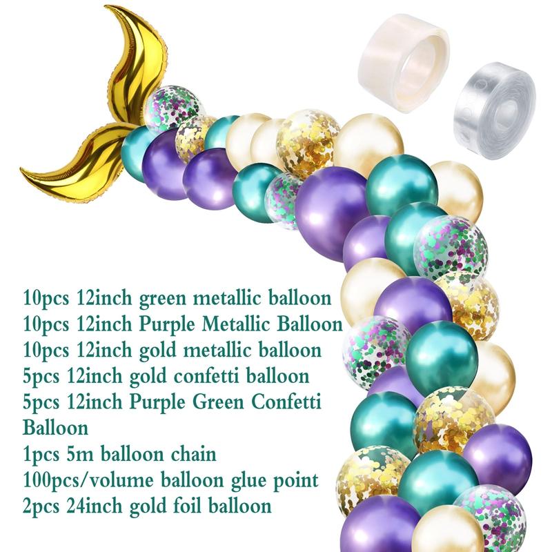 Little Mermaid Party Decorations Supplies Set, 42 Pcs
