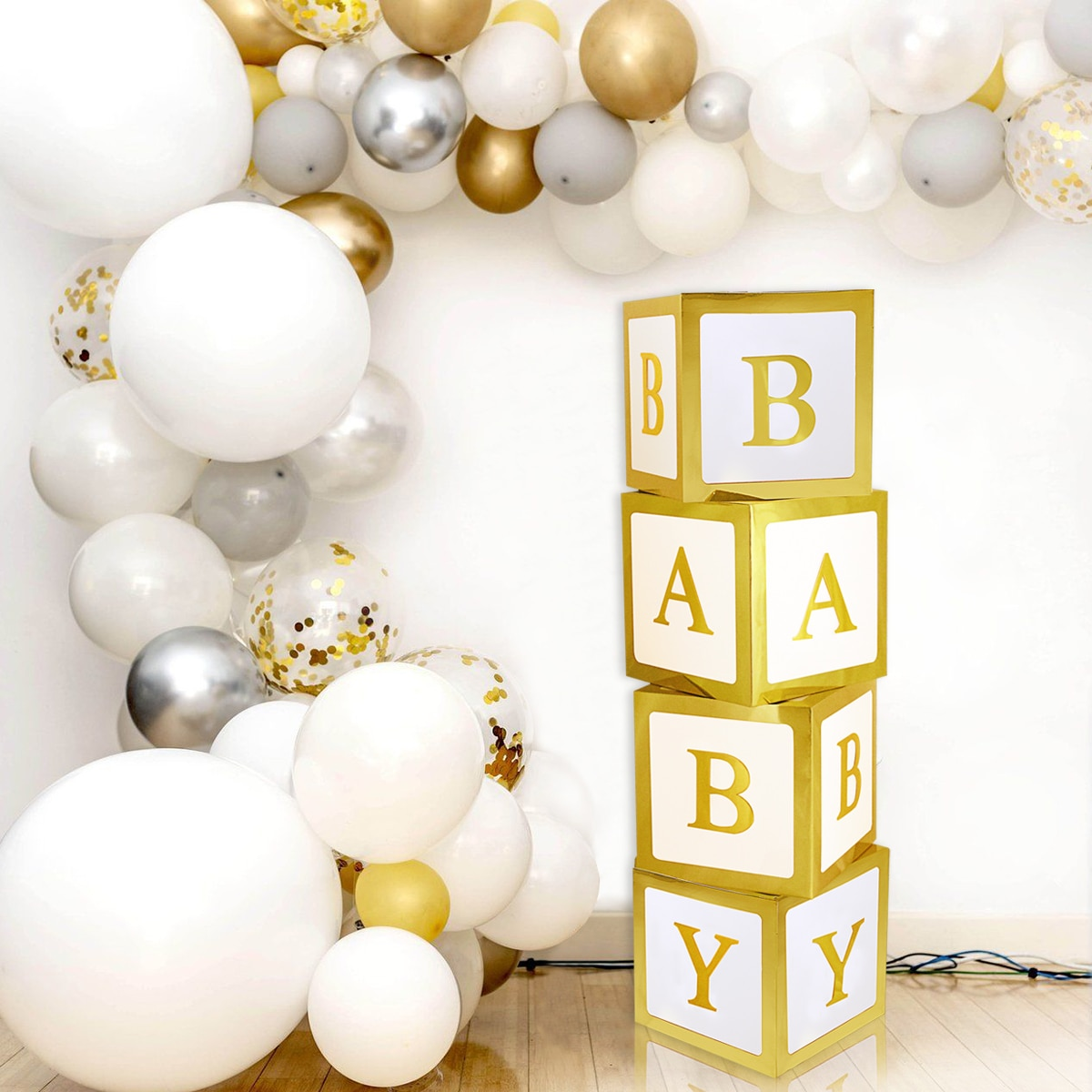 Baby Shower Birthday Transparent Party Decor Box