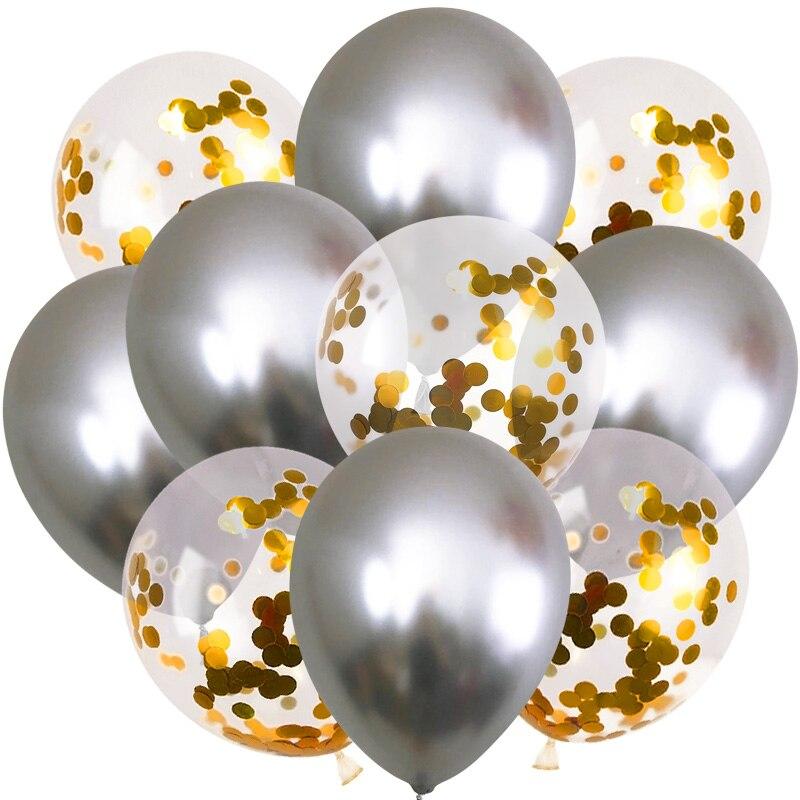 Metallic Balloons for Party 10 Pcs Set