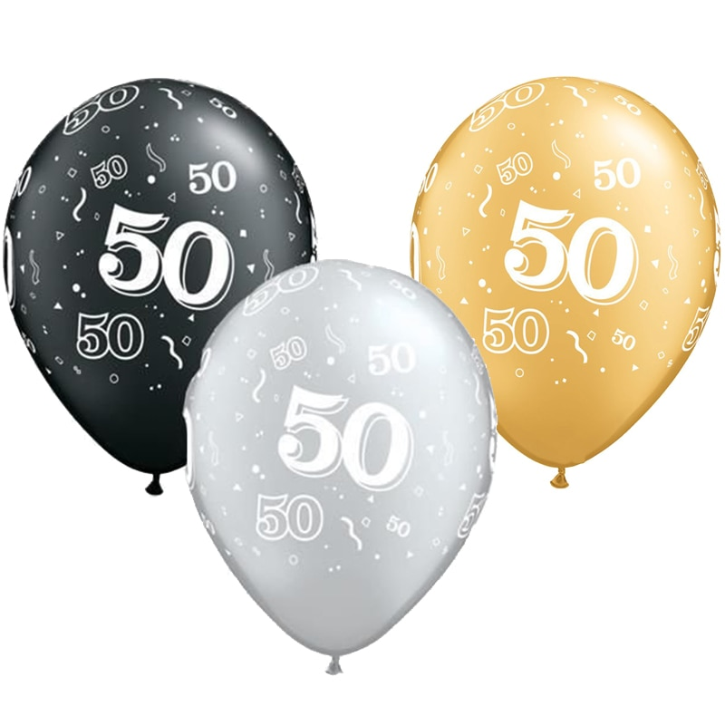 Latex Balloons for 50th Birthday Party