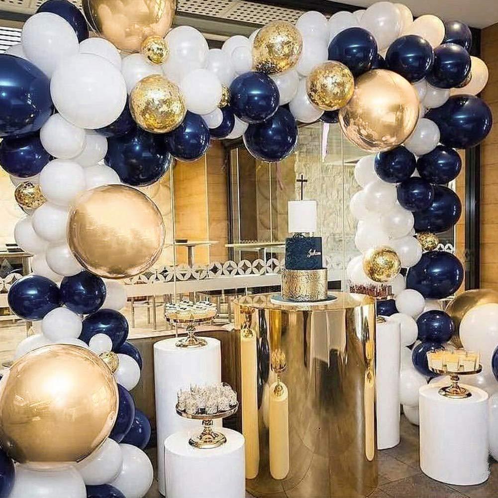 Navy Blue & Gold Balloon Set (100 pcs)