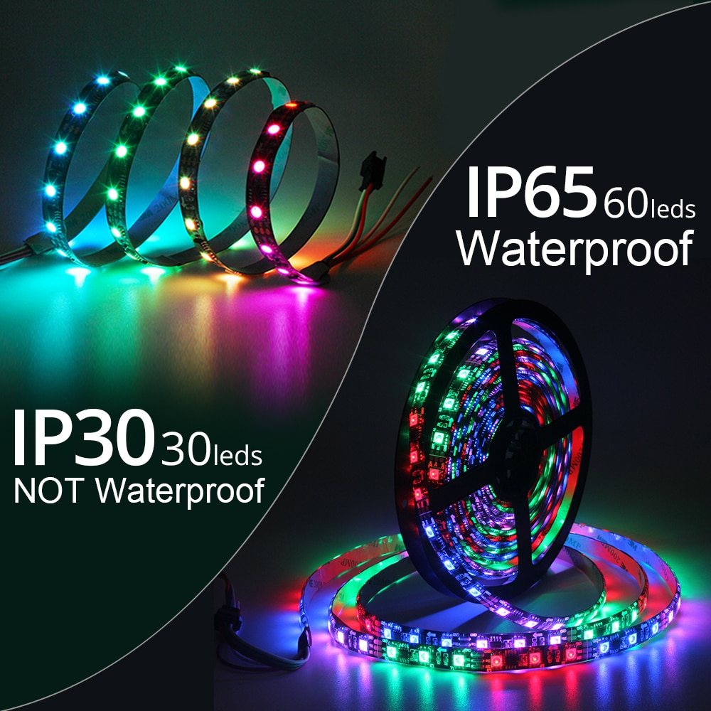 5M Rainbow LED Strip with Wifi Controller