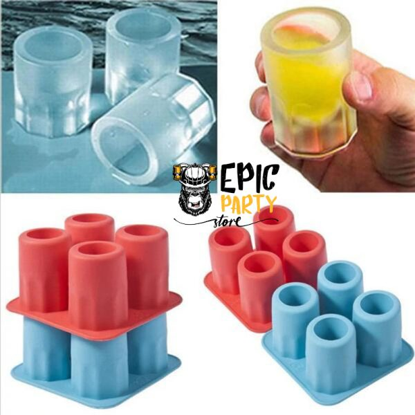 Ice Cube Freeze Mold- 4 Shots Glasses
