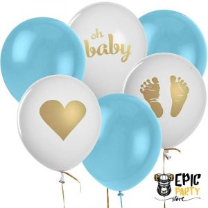 Baby Shower and Gender Reveal Party Balloons Set 12 pcs
