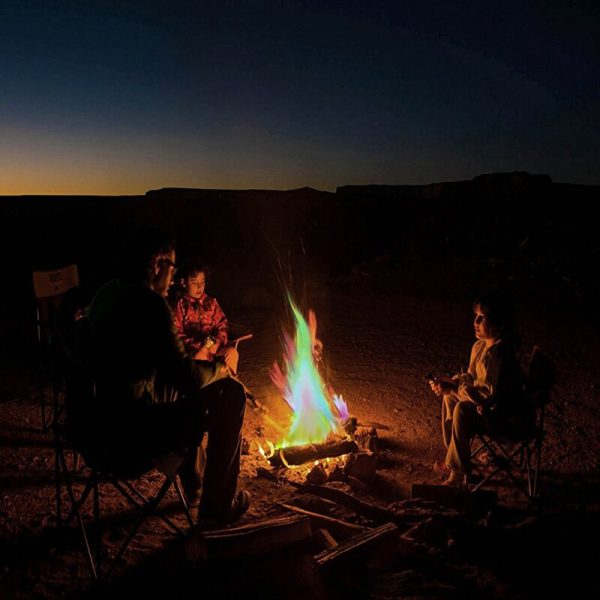 10g 15g 25g Magic Fire Colorful Flames Powder Bonfire Sachets Pyrotechnics Magic Trick Outdoor Camping Hiking 2