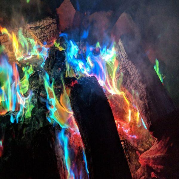 10g 15g 25g Magic Fire Colorful Flames Powder Bonfire Sachets Pyrotechnics Magic Trick Outdoor Camping Hiking 4