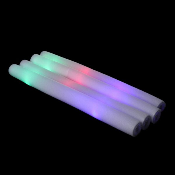 12Pcs Set LED Foam Glow Sticks Multi Color LED Foam Stick Light Up Wands Cheer Batons