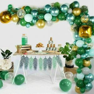 167pcs Green Balloon Garland Latex Balloon Arch Safari Jungle Party Wild One Birthday Party Decoration Kids 1