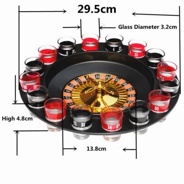 16Pcs Set Shot Glass Set Russian Roulette Drinking Game Glasses Beer Glass For Wedding Party Bar 2