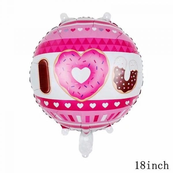 32Inch Donut Digital Foil Balloon Fruit Ice Cream Helium Balloon Birthday Party Decoration Kids Toy Sweet 4