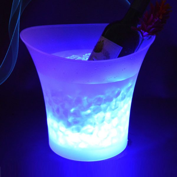 7 Color LED New 5L Waterproof Plastic LED Ice Bucket Color Bars Nightclubs LED Light Up 1