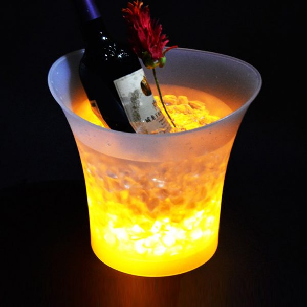 7 Color LED New 5L Waterproof Plastic LED Ice Bucket Color Bars Nightclubs LED Light Up 2
