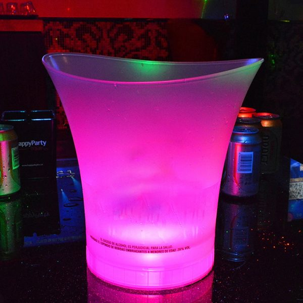 7 Color LED New 5L Waterproof Plastic LED Ice Bucket Color Bars Nightclubs LED Light Up 3