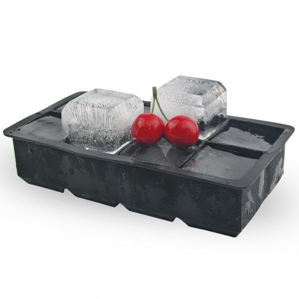 8 Grids Ice Cube Maker Silicone Ice Tray Square Shape Whisky DIY Ice Cube Mold Maker 2