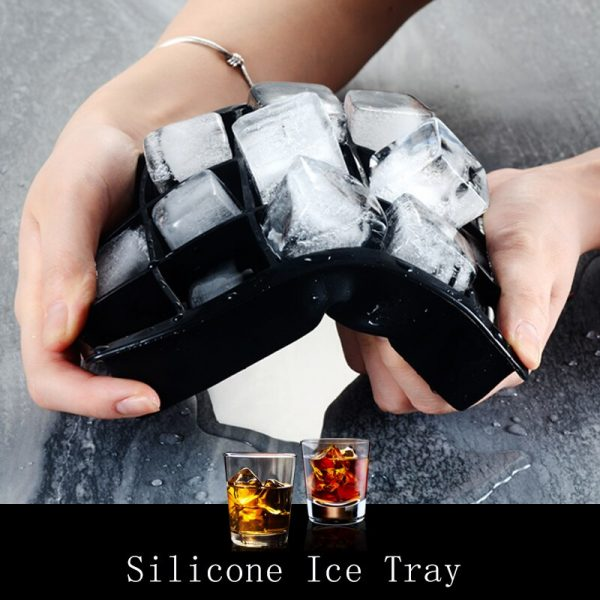 8 Grids Ice Cube Maker Silicone Ice Tray Square Shape Whisky DIY Ice Cube Mold Maker