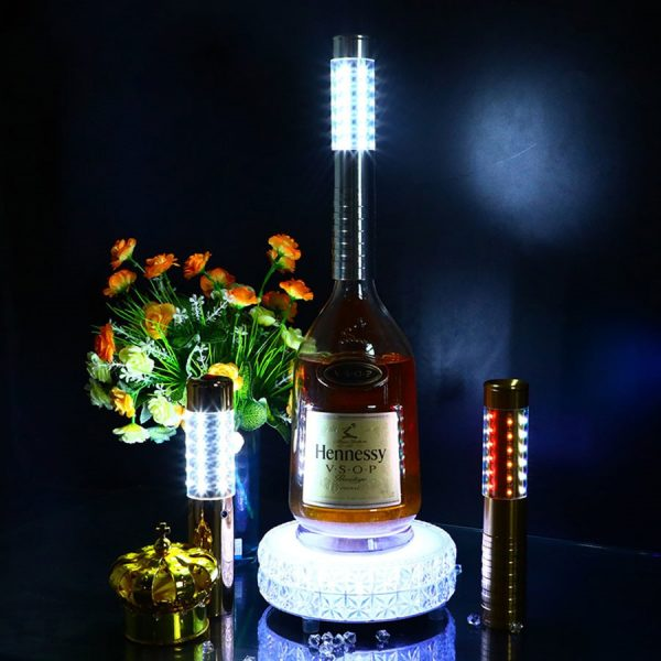 BEIAIDI Flashing LED Sparklers Bottle Strobe Baton for Champagne Bottle KTV Bar Club Party Rechargeable LED 2