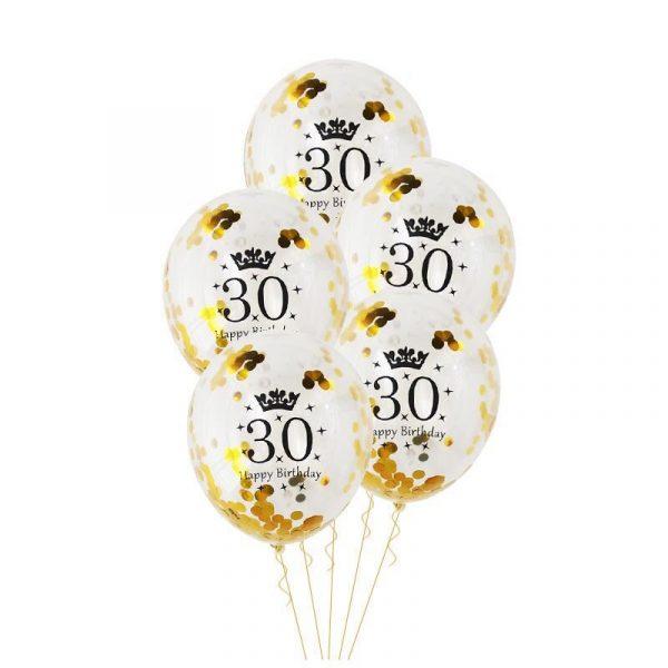 Birthday Party Decorations Adult 5pcs 30 40 50th Happy Birthday Confetti Balloons Rose Gold Tassels Anniversary 3