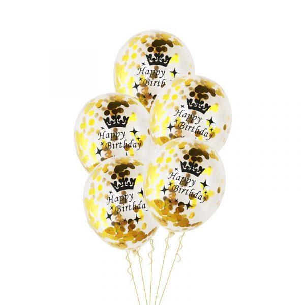 Birthday Party Decorations Adult 5pcs 30 40 50th Happy Birthday Confetti Balloons Rose Gold Tassels Anniversary 4