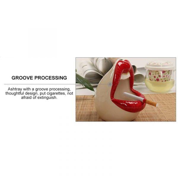 Cute Cartoon Ashtray Lips Ceramic Ashtray Creative Flower Pot Trendy Mouth Fashion Home Mini Send Boyfriend 2
