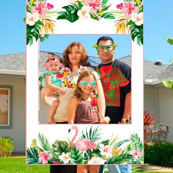 FENGRISE Palm Leaf Hawaiian Party Decorations Hawaii Tropical Party Summer Flamingo Party Luau Wedding Decor Aloha