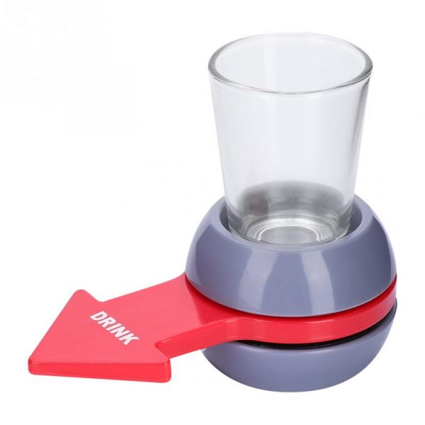 Funny Shot Spinner Party Game Rotatable Arrow Beer Wine Glass Cup Kit Spin The Shot Drinking 3