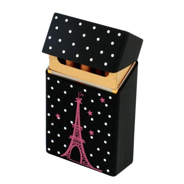 Hold 20 Cigarettes Ladies Silicone Cigarette Case Cover Man Women Smoking Cigarette Box Sleeve Pocket Cigarettes 2
