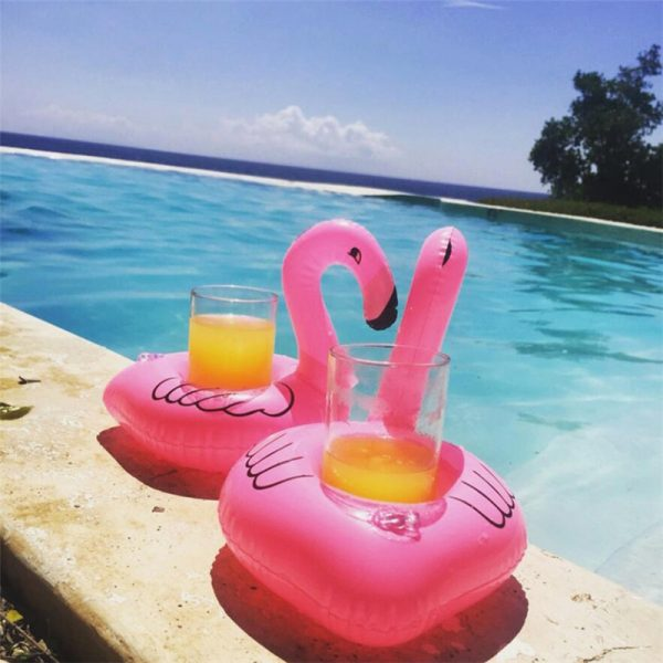 Inflatable Cup Holder Unicorn Flamingo Drink Holder Swimming Pool Float Bathing Pool Toy Party Decoration Bar 2