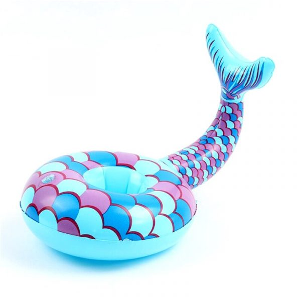 Inflatable Cup Holder Unicorn Flamingo Drink Holder Swimming Pool Float Bathing Pool Toy Party Decoration Bar 4