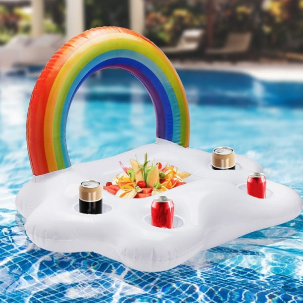 Inflatable Pool Float Beer Drinking Cooler Table Bar Tray Beach Swimming Ring Summer Pool Party Bucket 2