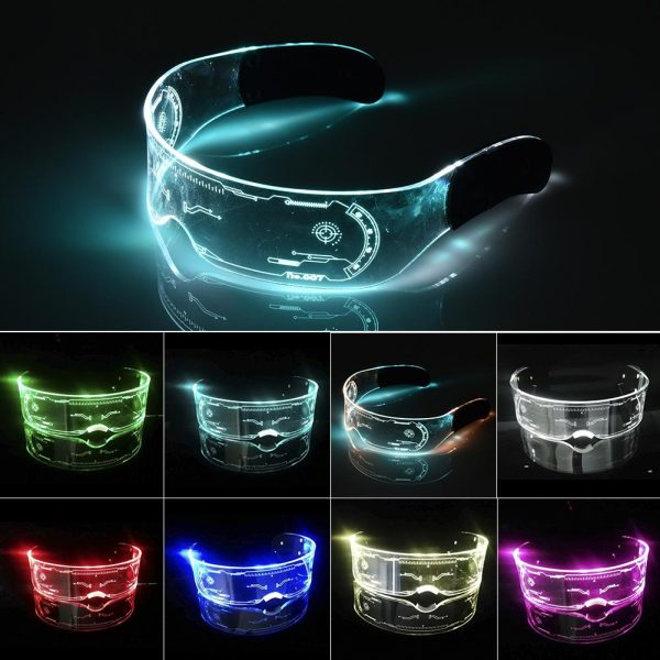 LED Glasses EL Wire Neon Party Luminous LED Glasses Light Up Glasses Rave Costume Party Decor 1