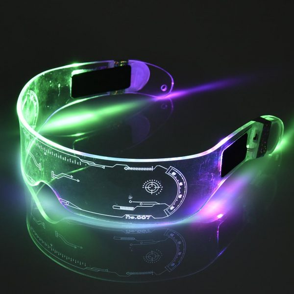 LED Glasses EL Wire Neon Party Luminous LED Glasses Light Up Glasses Rave Costume Party Decor