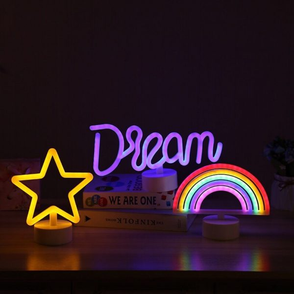 LED Neon Lights Table Lamp Letter Sign Art Decorative for Holiday Wedding Party Bar Shop Bedroom 1