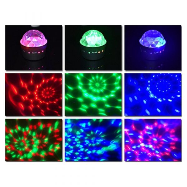 Mini stage light 3W USB powered Sound actived Multicolor Disco ball magic effect lamp For Birthday 4