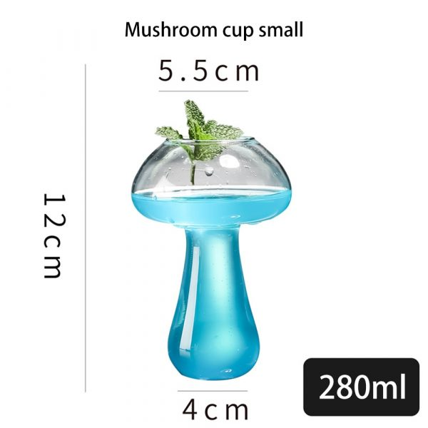 Mushroom Cocktail Glass Molecular Gastronomy Bar Rectification Bartender Special Beer Wine Glasses Goblet Cooler Cup 2