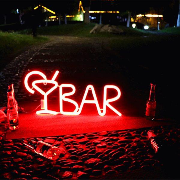 New Cute Bar Neon Sign LED Rainbow Light Lamp for Dorm Decor Bar Decor Neon Lamp