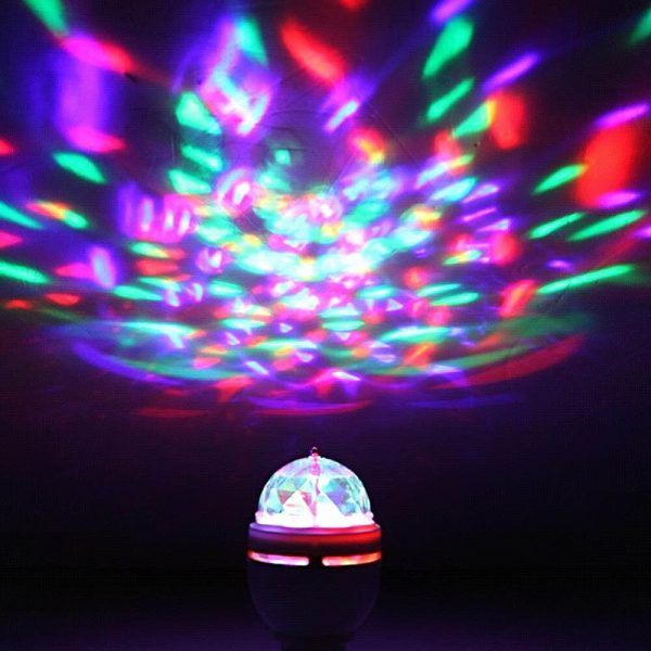 Portable multi LED bulb Mini Laser Projector DJ Disco Stage Light Xmas Party Lighting Show with 2