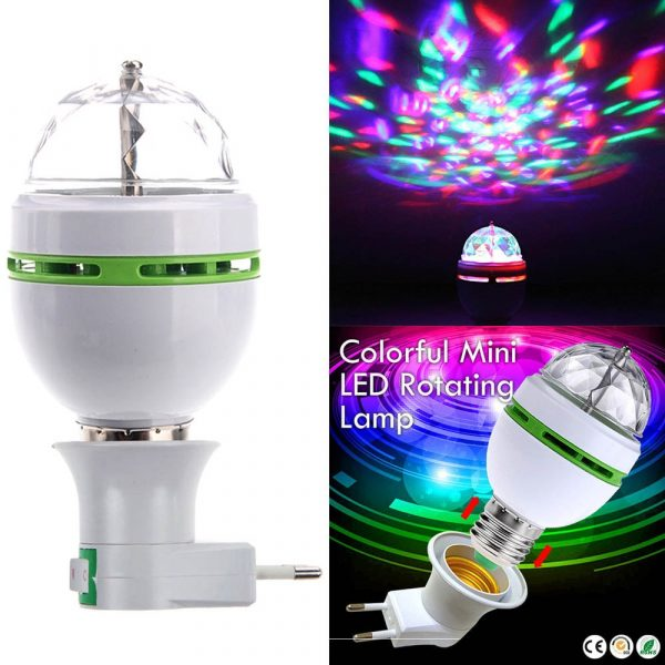 Portable multi LED bulb Mini Laser Projector DJ Disco Stage Light Xmas Party Lighting Show with 3