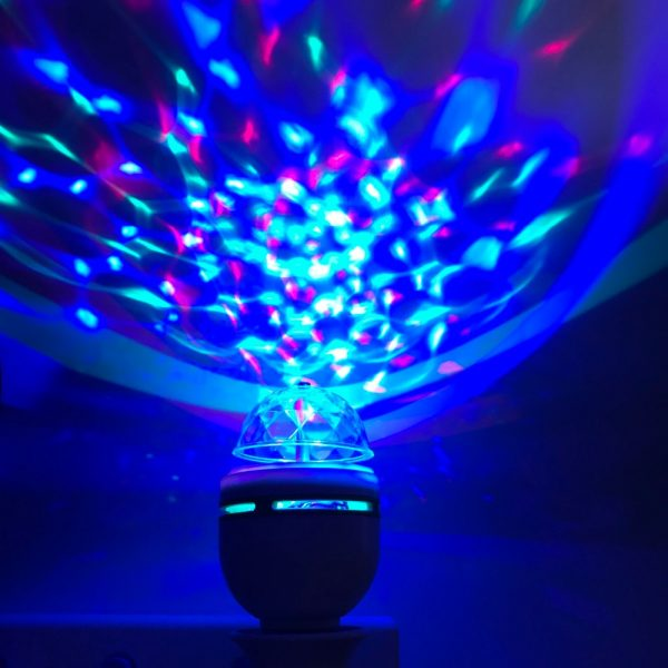 Portable multi LED bulb Mini Laser Projector DJ Disco Stage Light Xmas Party Lighting Show with