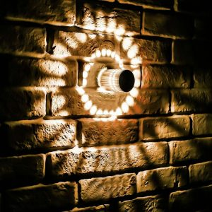 RGB Spiral Hole LED Wall Light Effect Wall Lamp With Remote Controller Colorful Wandlamp For Party 1