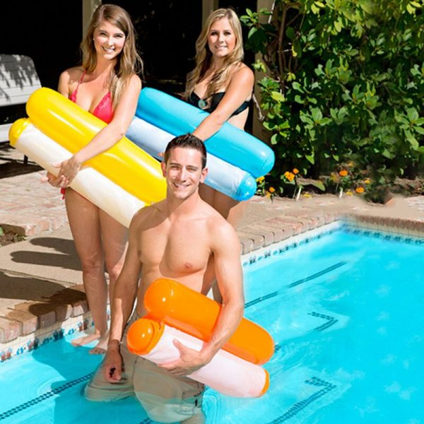 Summer Inflatable Floating Row Pool Air Mattresses Beach Foldable Swimming Pool Chair Hammock Water Sports Piscina 1