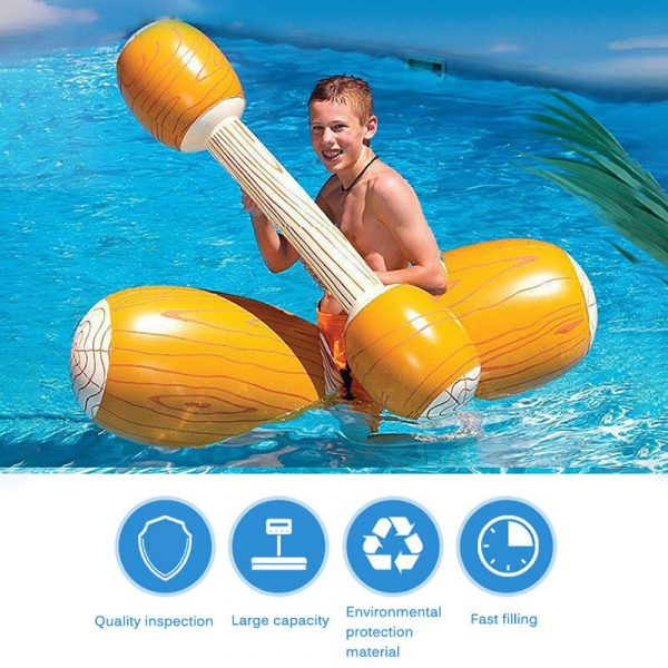 Summer Inflatable Pool Beach Pool Inflatable Swimming Rings Universal Double Beat Swim Log Stick Set Ring 2