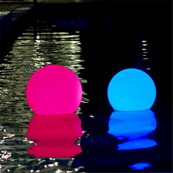 Waterproof LED Garden Ball Light Outdoor Lawn Lamps Rechargeable Christmas Party RGB Landscape Swimming Pool Floating 1