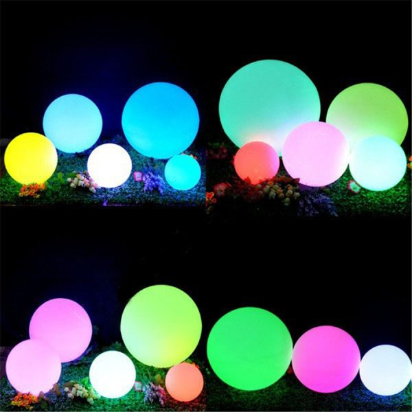 Waterproof LED Garden Ball Light Outdoor Lawn Lamps Rechargeable Christmas Party RGB Landscape Swimming Pool Floating 2