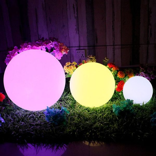 Waterproof LED Garden Ball Light Outdoor Lawn Lamps Rechargeable Christmas Party RGB Landscape Swimming Pool Floating 4