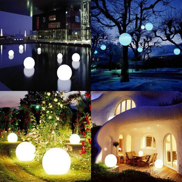 Waterproof LED Garden Ball Light Outdoor Lawn Lamps Rechargeable Christmas Party RGB Landscape Swimming Pool Floating 5