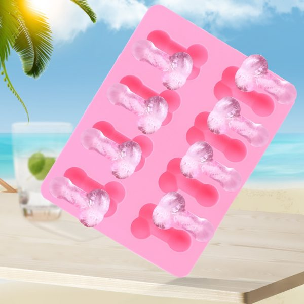 8 Holes Penis Shape Ice Cube Tray Silicone Cake Mold Chocolate Moulds Cake Decorating Tools